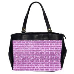 Brick1 White Marble & Purple Glitter Office Handbags (2 Sides)