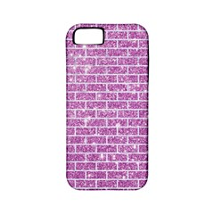 Brick1 White Marble & Purple Glitter Apple Iphone 5 Classic Hardshell Case (pc+silicone)