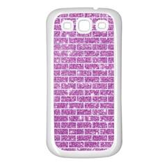 Brick1 White Marble & Purple Glitter Samsung Galaxy S3 Back Case (white)