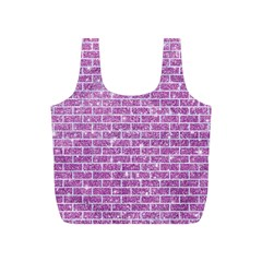 Brick1 White Marble & Purple Glitter Full Print Recycle Bags (s)