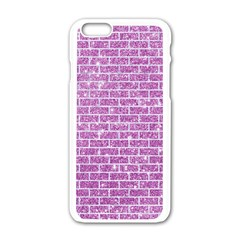 Brick1 White Marble & Purple Glitter Apple Iphone 6/6s White Enamel Case