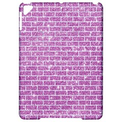 Brick1 White Marble & Purple Glitter Apple Ipad Pro 9 7   Hardshell Case