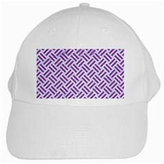 Woven2 White Marble & Purple Denim (r) White Cap