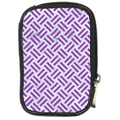 Woven2 White Marble & Purple Denim (r) Compact Camera Cases