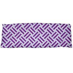 Woven2 White Marble & Purple Denim (r) Body Pillow Case Dakimakura (two Sides)