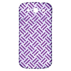 Woven2 White Marble & Purple Denim (r) Samsung Galaxy S3 S Iii Classic Hardshell Back Case by trendistuff