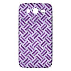 Woven2 White Marble & Purple Denim (r) Samsung Galaxy Mega 5 8 I9152 Hardshell Case  by trendistuff