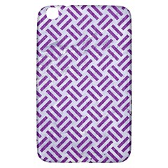 Woven2 White Marble & Purple Denim (r) Samsung Galaxy Tab 3 (8 ) T3100 Hardshell Case
