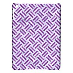 Woven2 White Marble & Purple Denim (r) Ipad Air Hardshell Cases