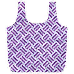 Woven2 White Marble & Purple Denim (r) Full Print Recycle Bags (l)