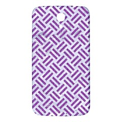 Woven2 White Marble & Purple Denim (r) Samsung Galaxy Mega I9200 Hardshell Back Case