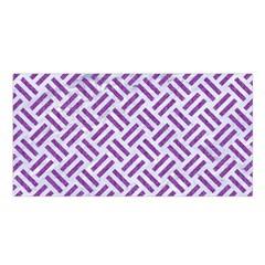 Woven2 White Marble & Purple Denim (r) Satin Shawl