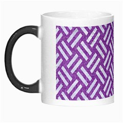 Woven2 White Marble & Purple Denim Morph Mugs