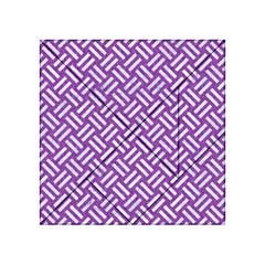 Woven2 White Marble & Purple Denim Acrylic Tangram Puzzle (4  X 4 )