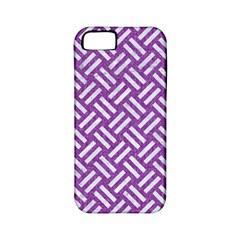 Woven2 White Marble & Purple Denim Apple Iphone 5 Classic Hardshell Case (pc+silicone)