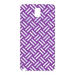 Woven2 White Marble & Purple Denim Samsung Galaxy Note 3 N9005 Hardshell Back Case