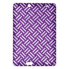 Woven2 White Marble & Purple Denim Amazon Kindle Fire Hd (2013) Hardshell Case