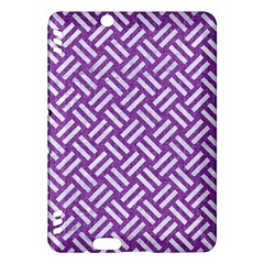 Woven2 White Marble & Purple Denim Kindle Fire Hdx Hardshell Case by trendistuff