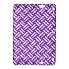 Woven2 White Marble & Purple Denim Kindle Fire Hdx 8 9  Hardshell Case
