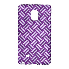 Woven2 White Marble & Purple Denim Galaxy Note Edge