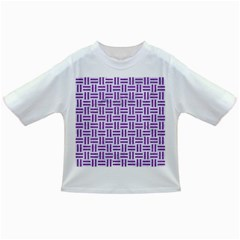 Woven1 White Marble & Purple Denim (r) Infant/toddler T Shirts