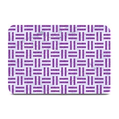Woven1 White Marble & Purple Denim (r) Plate Mats