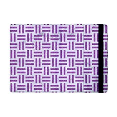 Woven1 White Marble & Purple Denim (r) Apple Ipad Mini Flip Case