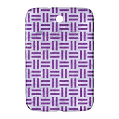 Woven1 White Marble & Purple Denim (r) Samsung Galaxy Note 8 0 N5100 Hardshell Case  by trendistuff