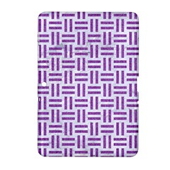 Woven1 White Marble & Purple Denim (r) Samsung Galaxy Tab 2 (10 1 ) P5100 Hardshell Case