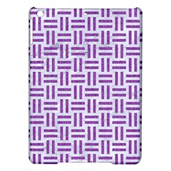 Woven1 White Marble & Purple Denim (r) Ipad Air Hardshell Cases