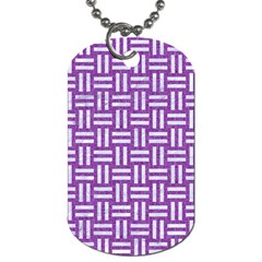 Woven1 White Marble & Purple Denim Dog Tag (two Sides)