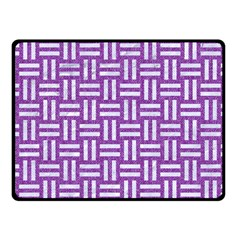 Woven1 White Marble & Purple Denim Fleece Blanket (small)