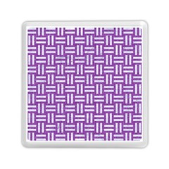 Woven1 White Marble & Purple Denim Memory Card Reader (square)