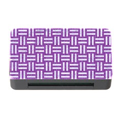 Woven1 White Marble & Purple Denim Memory Card Reader With Cf