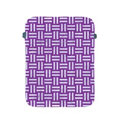 Woven1 White Marble & Purple Denim Apple Ipad 2/3/4 Protective Soft Cases