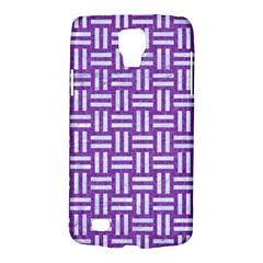 Woven1 White Marble & Purple Denim Galaxy S4 Active