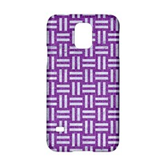 Woven1 White Marble & Purple Denim Samsung Galaxy S5 Hardshell Case