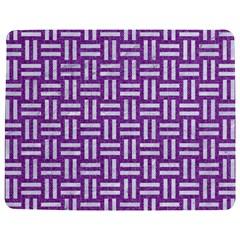 Woven1 White Marble & Purple Denim Jigsaw Puzzle Photo Stand (rectangular)
