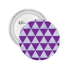 Triangle3 White Marble & Purple Denim 2 25  Buttons