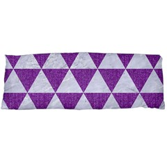Triangle3 White Marble & Purple Denim Body Pillow Case Dakimakura (two Sides) by trendistuff