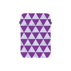 Triangle3 White Marble & Purple Denim Apple Ipad Mini Protective Soft Cases by trendistuff