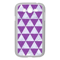 Triangle3 White Marble & Purple Denim Samsung Galaxy Grand Duos I9082 Case (white)