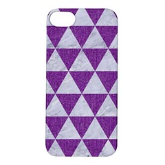 Triangle3 White Marble & Purple Denim Apple Iphone 5s/ Se Hardshell Case
