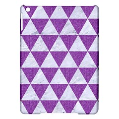 Triangle3 White Marble & Purple Denim Ipad Air Hardshell Cases