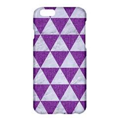 Triangle3 White Marble & Purple Denim Apple Iphone 6 Plus/6s Plus Hardshell Case