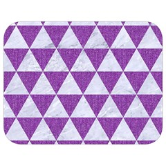 Triangle3 White Marble & Purple Denim Full Print Lunch Bag by trendistuff