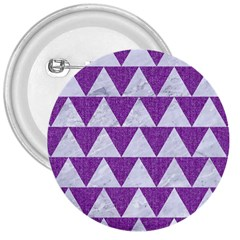 Triangle2 White Marble & Purple Denim 3  Buttons