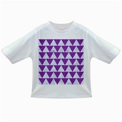 Triangle2 White Marble & Purple Denim Infant/toddler T Shirts