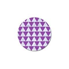 Triangle2 White Marble & Purple Denim Golf Ball Marker
