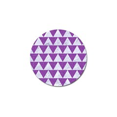 Triangle2 White Marble & Purple Denim Golf Ball Marker (10 Pack)